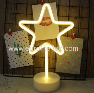 Led Neon Star Night Light Fevistal Holiday Decration Light