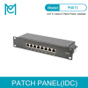 MC CAT 6 Class E Patch Panel Shielded 8-port RJ45 8P8C