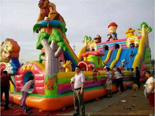 Operation of  inflatable dry slides and water slides