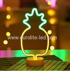 Led Neon pineapple Night Light Fevistal Holiday Decration Light
