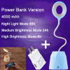 euroliteLED 2.5W Blue Dimmable Multi-use Desk Lamp Rechargeable 4000mAh 3 Gear Touch Control 4000K Eye-Caring Lamp