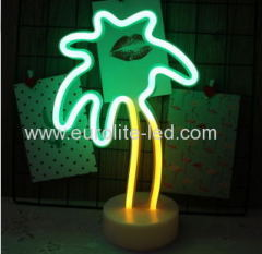 Led Neon Coconut Palm Tree Night Light Fevistal Holiday Decration Light