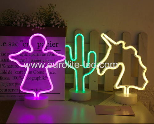 Led Neon Angle Night Light Fevistal Holiday Decration Light