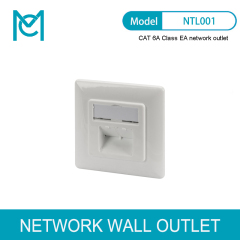 MC CAT 6A Class EA Network Outlet Design Compatible Shielded Flush Mount