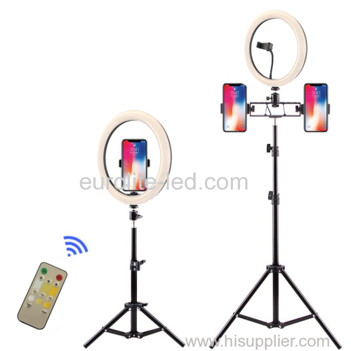 euroliteLED 12 Inch Ring light Photography Ring Lamp Makeup LED with Stand Hot Shoe for Camera and Smart Phone
