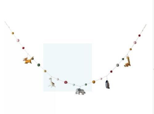 Wool Felt Animal Shaped Garland