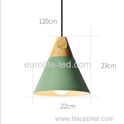 euroliteLED Green Single-Head LED Chandelier Nordic Modern Simplicity Pendant Lamp Hanging Wire 120cm Freely Adjustable