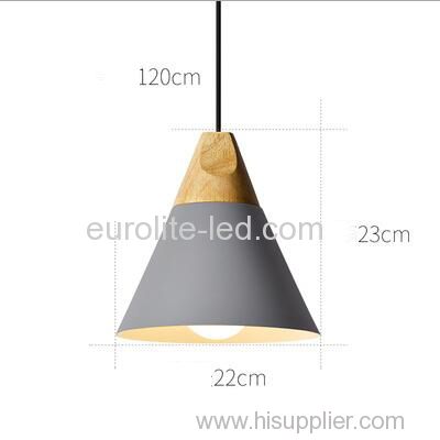 euroliteLED Gray Single-Head LED Chandelier Nordic Modern Simplicity Pendant Lamp Hanging Wire 120cm Freely Adjustable