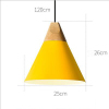 euroliteLED 9W Yellow Nordic Individual Solid Wood Single-Head Small Chandelier Creative Dining Room