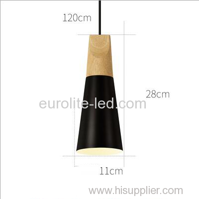 euroliteLED 9W Black Single-Head LED Chandelier Nordic Modern Pendant Lamp Hanging Wire 120cm Freely Adjustable