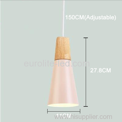 euroliteLED 9W Pink Single-Head LED Chandelier Nordic Modern Pendant Lamp Hanging Wire 150cm Freely Adjustable
