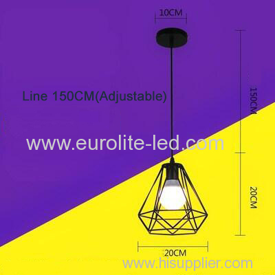 euroliteLED 12W Chandelier-Iron Art Chandelier Nordic Creative Living Room Lights Bedroom Restaurant Illumination