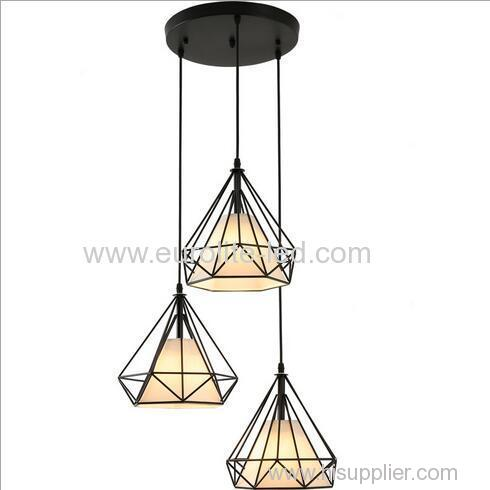 euroliteLED Chandelier Iron Art 3 Holder Color Chandelier Nordic Creative Living Room Lights Restaurant Illumination