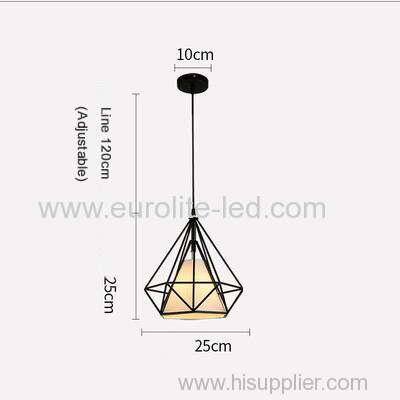 euroliteLED 12W 25cm White Iron Art Chandelier Nordic Creative Living Room Lights Bedroom Restaurant Illumination