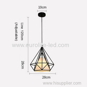 euroliteLED 12W 28cm White Iron Art Chandelier Nordic Creative Living Room Lights Bedroom Restaurant Illumination