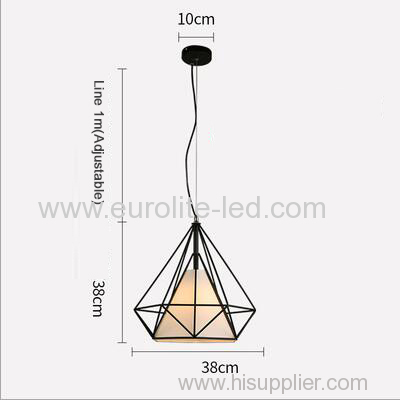 euroliteLED 12W 38cm White Iron Art Chandelier Nordic Creative Living Room Lights Bedroom Restaurant Illumination