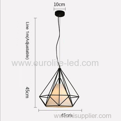 euroliteLED 12W 45cm White Iron Art Chandelier Nordic Creative Living Room Lights Bedroom Restaurant Illumination