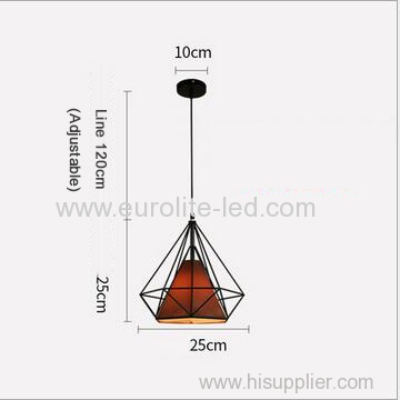 euroliteLED 12W 25cm Brown Iron Art Chandelier Nordic Creative Living Room Lights Bedroom Restaurant Illumination