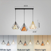 euroliteLED Chandelier Iron Art 3 Holder Color Ceiling Lights Nordic Creative Living Room Lights Restaurant Illumination