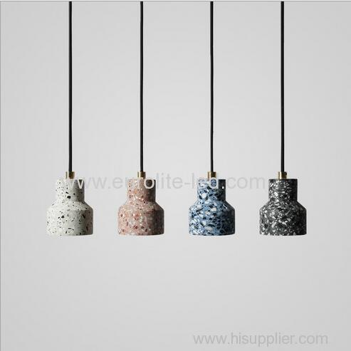 euroliteLED White Industrial Retro Style Creative Single Head Chandelier Trendy Modern Design Terrazzo Pendant Light