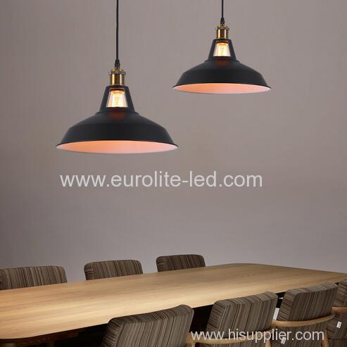 euroliteLED L Interior Iron Umbrella Lampshade Light Industrial Vintage Pendant Lamp Antique Creative Lotus Chandelier