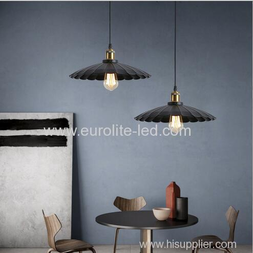 euroliteLED 40W S American Style Single Head Industrial Antique Wrought Iron Pendant Light