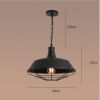 euroliteLED 40W Black L Hat Shape Hanging Lamp Vintage Loft Industrial Ceiling Light Pendant Lamp Iron Hanging Lamp