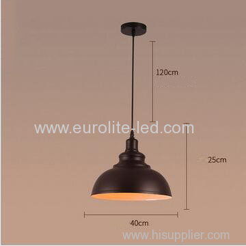 euroliteLED 10W L Metal Industrial Pendant Light Vintage Barn Hanging Lamp Modern Iron Ceiling Light Dining Room Lamp