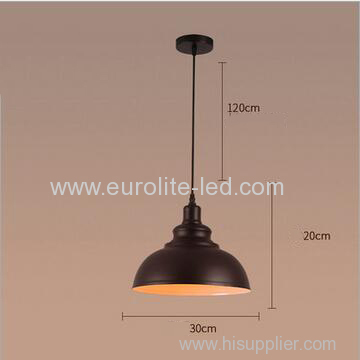 euroliteLED 10W S Metal Industrial Pendant Light Vintage Barn Hanging Lamp Modern Iron Ceiling Light Dining Room Lamp