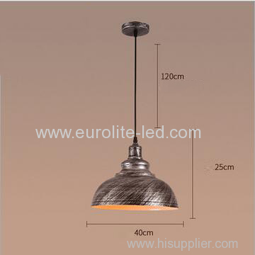 euroliteLED Silver 10W L Industrial Pendant Light Vintage Barn Hanging Lamp Modern Iron Ceiling Light Dining Room Lamp