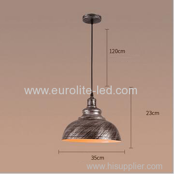 euroliteLED Silver 10W M Industrial Pendant Light Vintage Barn Hanging Lamp Modern Iron Ceiling Light Dining Room Lamp