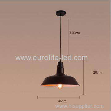 euroliteLED 40W Black L Industrial Vintage Adjustable Pendant Light