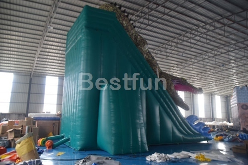 Commercial inflatable crocodile slide