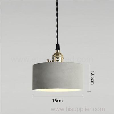 euroliteLED 16*12.5CM Retro Cement Single Head Chandelier Creative Bar Small Ceiling Light Suspension Lamp