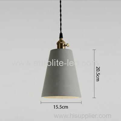 euroliteLED 15.5*20.5CM Retro Cement Single Head Chandelier Creative Bar Small Ceiling Light Suspension Lamp