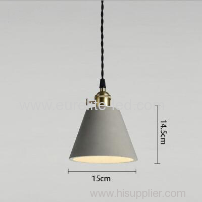 euroliteLED 15*14.5CM Retro Cement Single Head Chandelier Creative Bar Small Ceiling Light Suspension Lamp