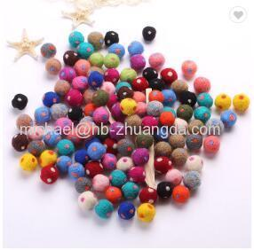 wholesale handmade wool felt toys 50mm handmade felt balls Hign quality(Special sizes can be customized according to cu