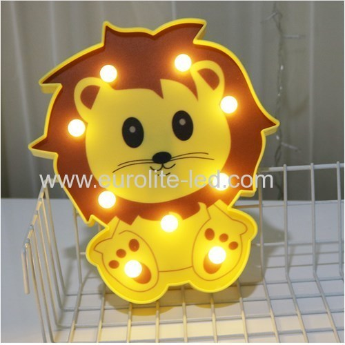 Led Plastic Animal Lovely Christmas Party Decoration Night Light