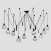 euroliteLED 10 Head Black LED Ceiling Light Creative Pulley