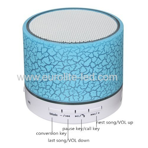 Led Crackle Wireless Bluetooth Speaker Portable Subwoofer Gift Night Light