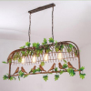 euroliteLED Four Head Bronze Traditional Birdcage Pendant Lighting Creative Chandelier Vintage Loft Metal Ceiling Lamp
