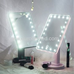 Led Cosmetic Mirror 16 LED USB Touch Storage Desktop Rotation Mirror Light