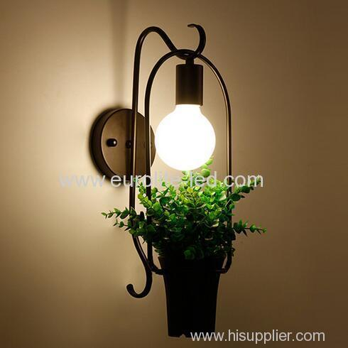 euroliteLED Creative Potted Green Plant Wall Lamp LED Wall Lamp E27 Stylish and Refined