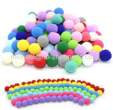 100Pcs 15/20/25mm Fluffy Soft Pompom Balls Handmade Kids Toys Wedding Decoration DIY Pom Poms Felt Ball Sewing Craft Sup