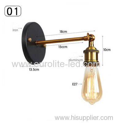euroliteLED Industrial Vintage Wall Lamp Fixture Simplicity Arm Swing Wall Lights(Model 1)