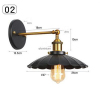 euroliteLED Industrial Vintage Wall Lamp Fixture Simplicity Arm Swing Wall Lights(Model 2)