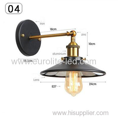 euroliteLED Industrial Vintage Wall Lamp Fixture Simplicity Arm Swing Wall Lights(Model 4)