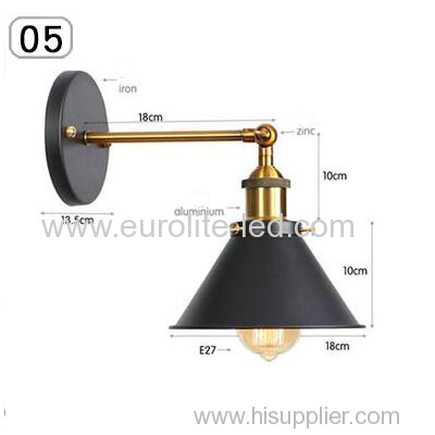 euroliteLED Industrial Vintage Wall Lamp Fixture Simplicity Arm Swing Wall Lights(Model 5)
