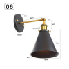 euroliteLED Industrial Vintage Wall Lamp Fixture Simplicity Arm Swing Wall Lights(Model 6)