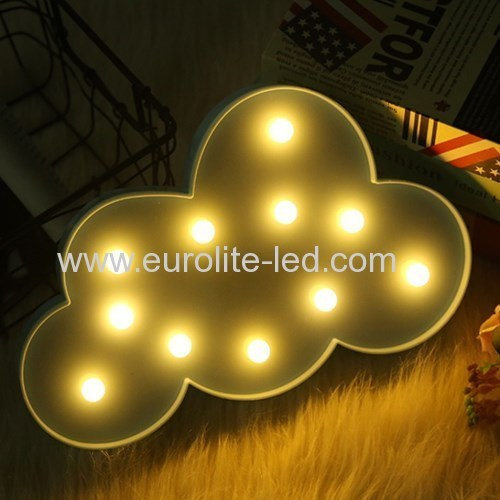 Led Plastic Cloud 11LED Warm white Room Kids Decoration Night Light